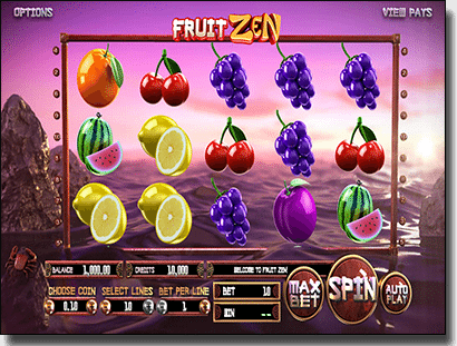 Play Fruit Zen online slots by BetSoft