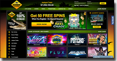 G'Day Casino - Best online real money casino for AUD punters