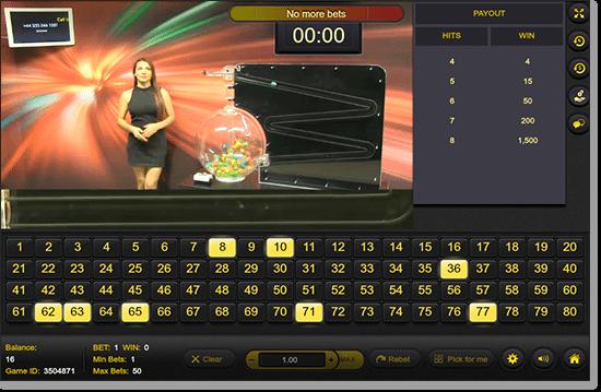 G'Day Casino - Play Live Dealer Keno by Ezugi