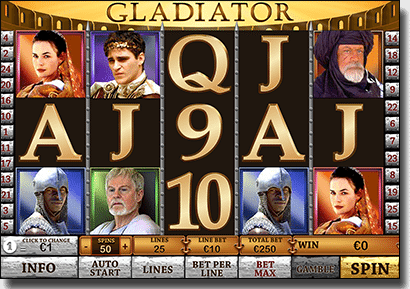 Gladiator film pokies by Playtech