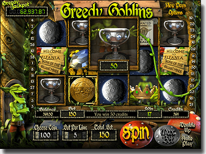 Play Greedy Goblins 3D animated slots by BetSoft