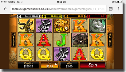 Play Mega Moolah progressive slots on mobile