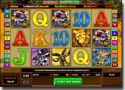 Play Mega Moolah pokies online for real money