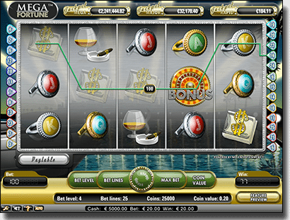 Mega Fortune online pokies gameplay