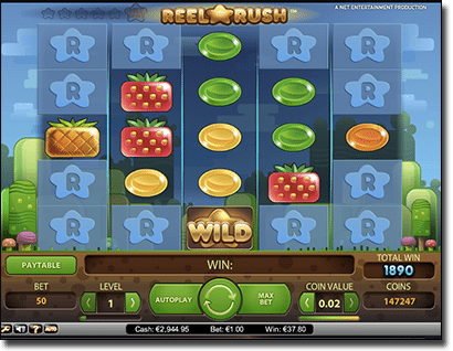 Reel Rush - Unique Candy Themed Slot Game