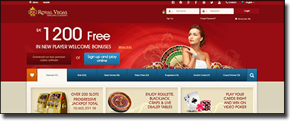 Royal Vegas Casino site new interface