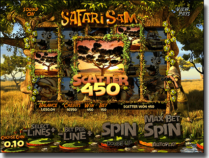 BetSoft 3D slots - Safari Sam