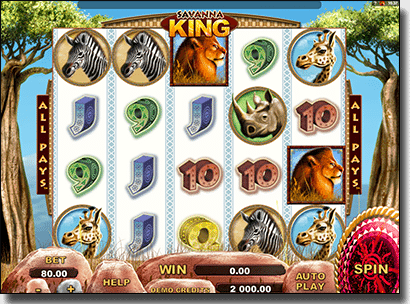 Play Savanna King pokies online