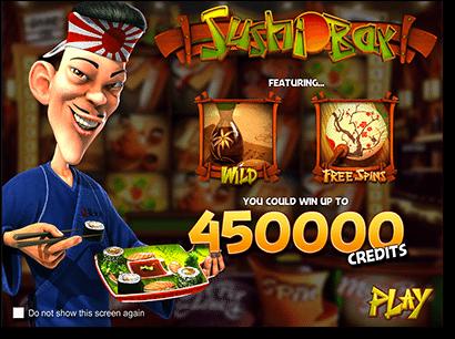 Play Sushi Bar real money slots by BetSoft