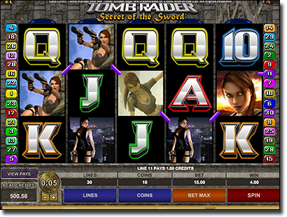 Play Tomb Raider online pokies by Microgaming