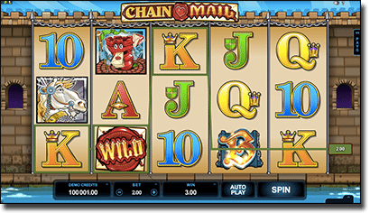 Chainmail HD pokies by Microgaming