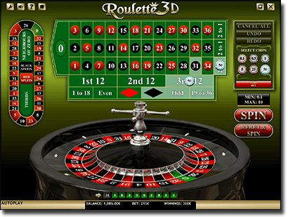 iSoftBet 3D online roulette games