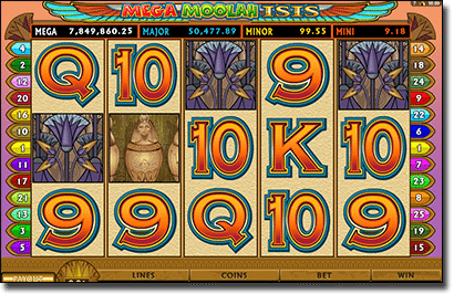 Play Mega Moolah Isis online for real money
