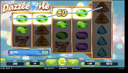 Play Dazzle Me online pokies at Slots Million