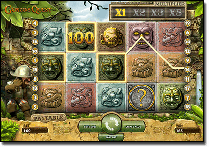 Gonzo's Quest online pokies by Net Entertainment