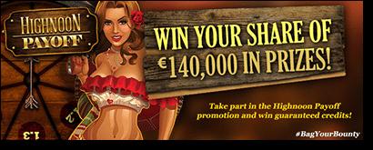 Highnoon Payoff promo at Royal Vegas Casino