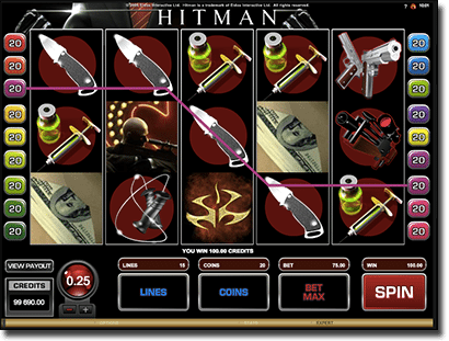 Hitman online pokies by Microgaming