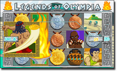 Play Legends of Olympia online slots for real money