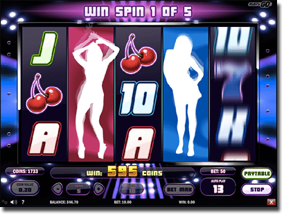 Spin Party win spins feature