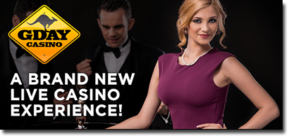 G'Day Casino launches new live dealer games