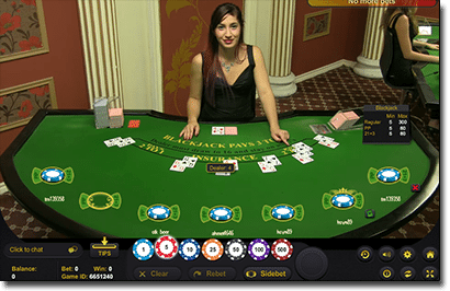 Play live dealer games at G'Day Casino