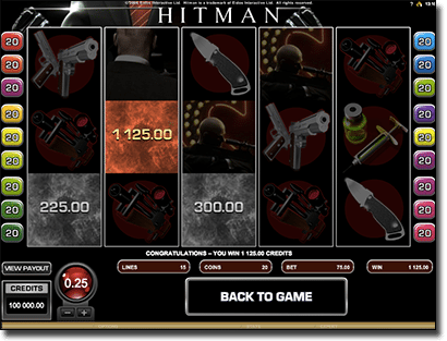 Hitman online pokie game
