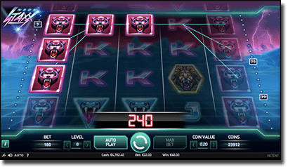 Neon Staxx online pokies by Net Entertainment