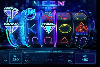 Neon Reels real money pokies iSoftBet