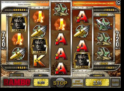 Rambo online pokies by iSoftBet