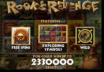 Rook's Revenge bonus games and free spins