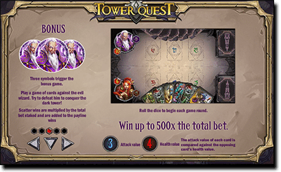 Tower Quest pokies special gameplay features