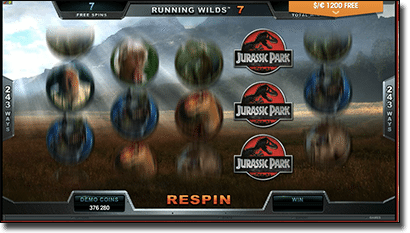 Jurassic Park slots free spins