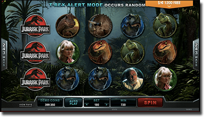Jurassic Park real money online slots