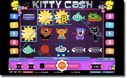 Kitty Cash - weird online pokies