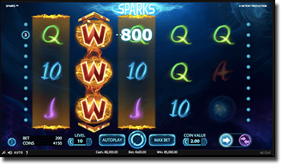 Sparks online and mobile pokies by Net Entertainment