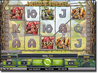 Wild Turkey pokies by Net Entertainment
