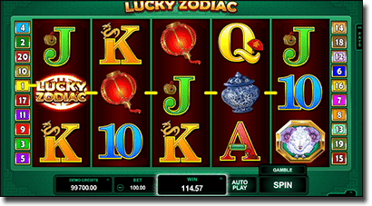 Lucky Zodiac Chinese online slots