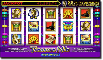 Treasure Nile online progressive jackpot pokies