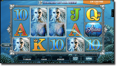 Ariana online video slots by Microgaming