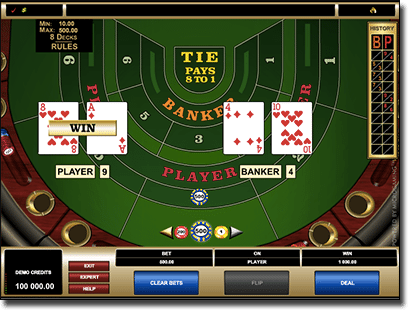 Play Baccarat high limit at Royal Vegas
