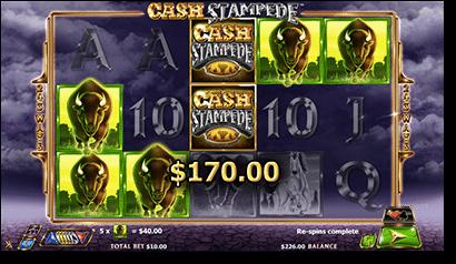Cash Stampede cash jackpots