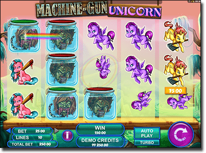 Machine Gun Unicorn real money pokies