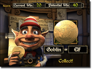 Greedy Goblins pokies - Two Up gamble feature
