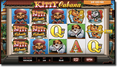 Kitty Cabana online pokies by Microgaming