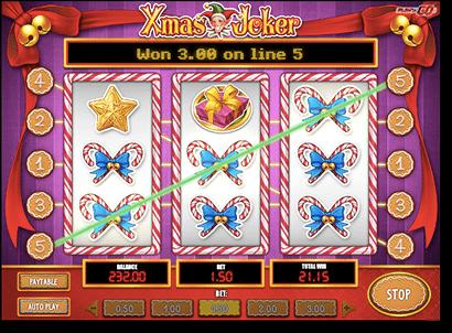 Xmas Joker slots by Play'n Go at Guts Casino