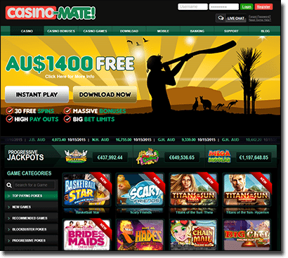 Casino-Mate gets an interface facelift