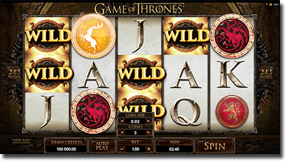 Game of Thrones online pokies by Microgaming
