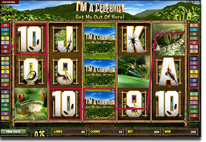 Play I'm a Celebrity online slots at 32Red Casino to win