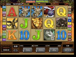 Mega Moolah progressive jackpot slots