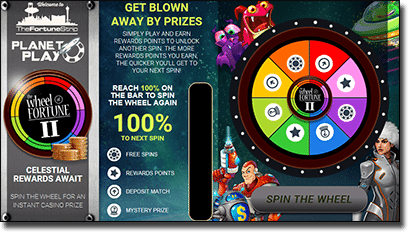 Wheel of Fortune cash prizes at Royal Vegas